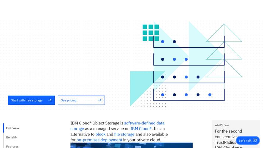 IBM Cloud Object Storage Landing Page