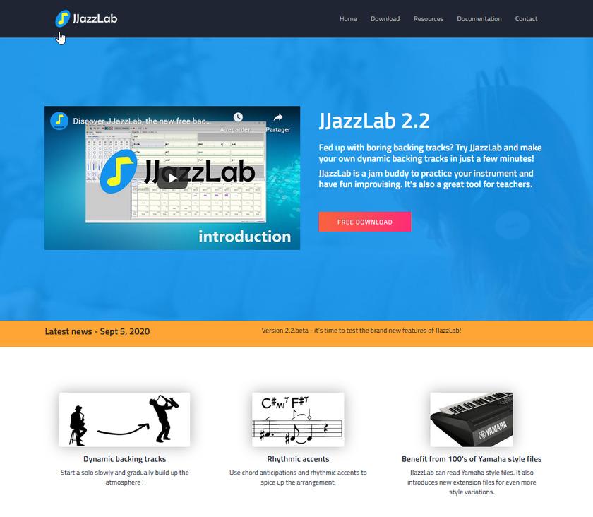 JJazzLab Landing Page
