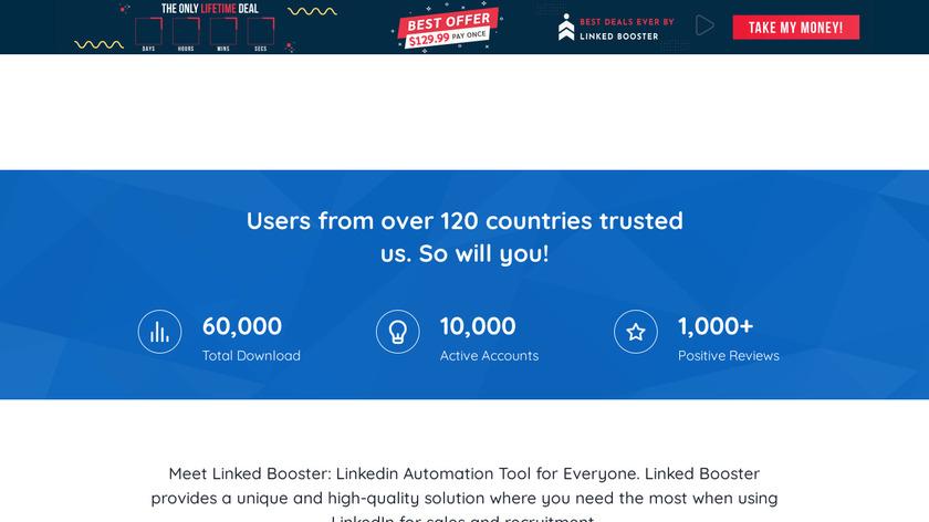 LinkedBooster.app Landing Page