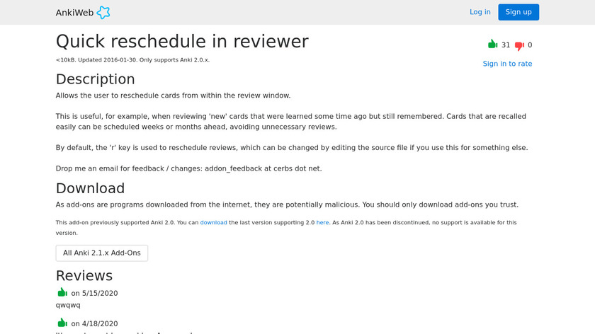 Quick reschedule in reviewer Landing Page