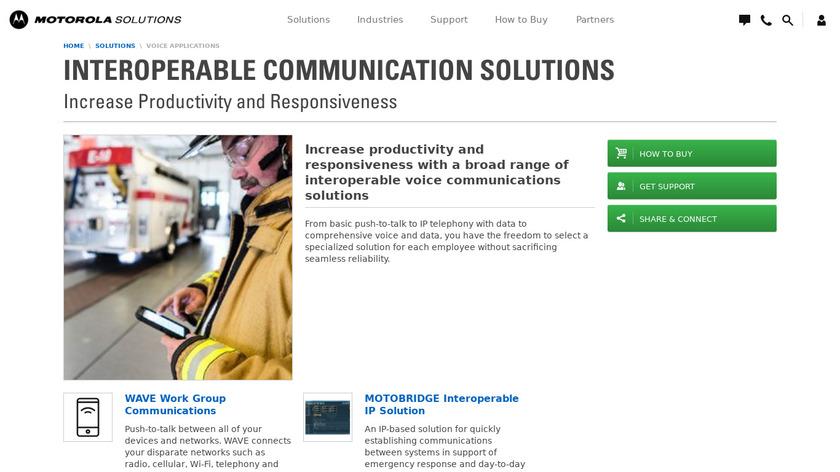 WAVE Mobile Communicator Landing Page