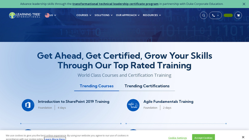 LearningTree Landing Page