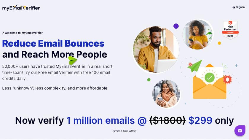 MyEmailVerifier Landing Page