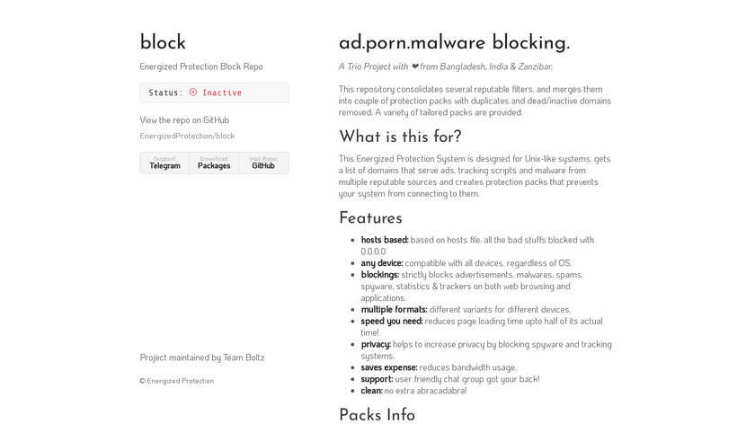 Energized Protection Landing Page