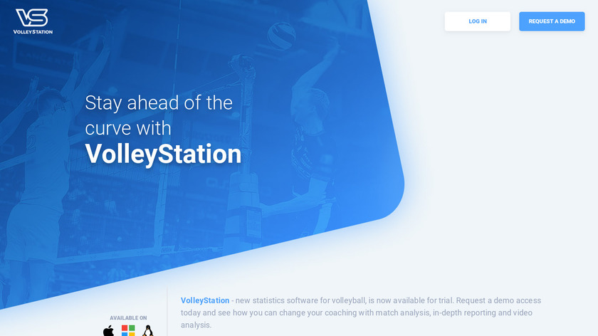 VolleyStation Landing Page