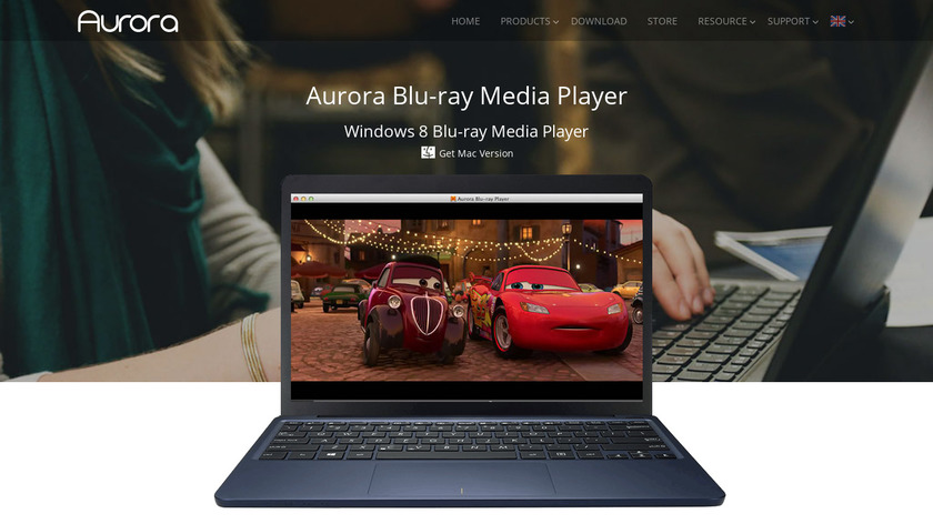 Aurora Blu-ray Player Landing Page