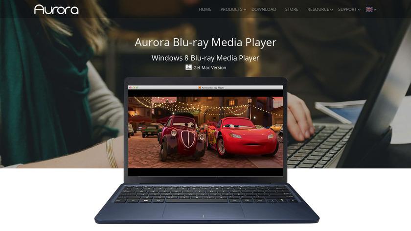 Aurora Blu-ray Player Landing Page