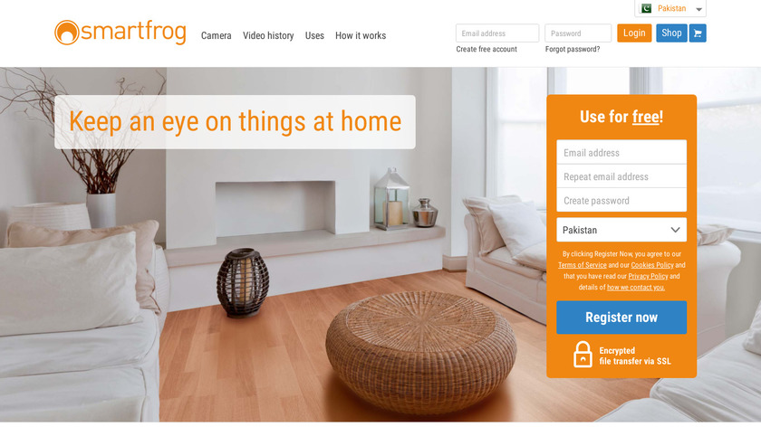 Smartfrog Home Security Camera Landing Page