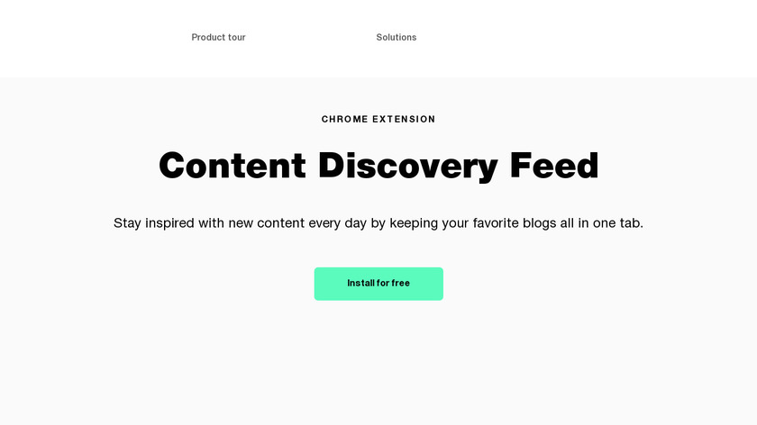 Content Discovery Feed Chrome Extension Landing Page