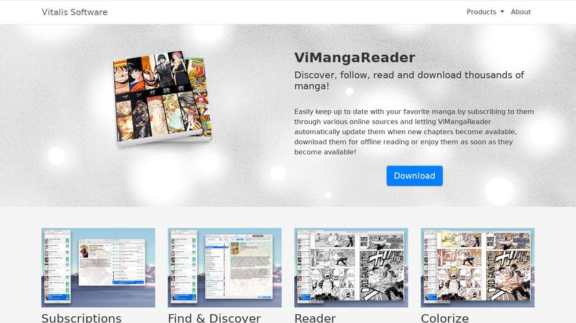 ViMangaReader Landing Page