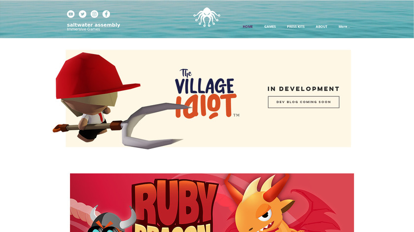 Ruby Dragon Landing Page