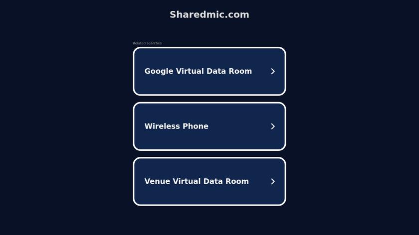 SharedMic Landing Page