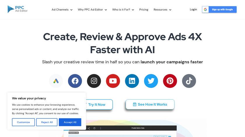 PPC Ad Editor Landing Page