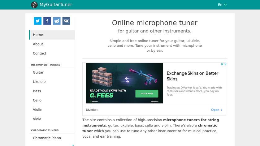 MyGuitarTuner.com Landing Page