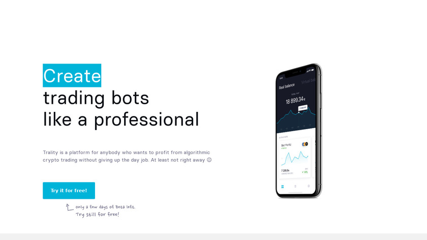 Trality Landing Page