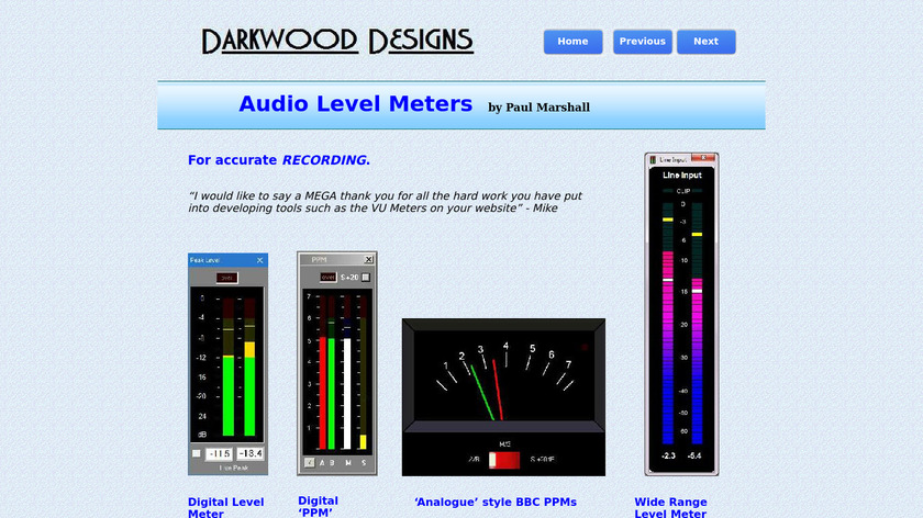 Digital Level Meter Landing Page