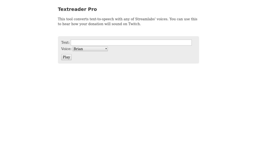 Text Reader: Text to Voice Landing Page