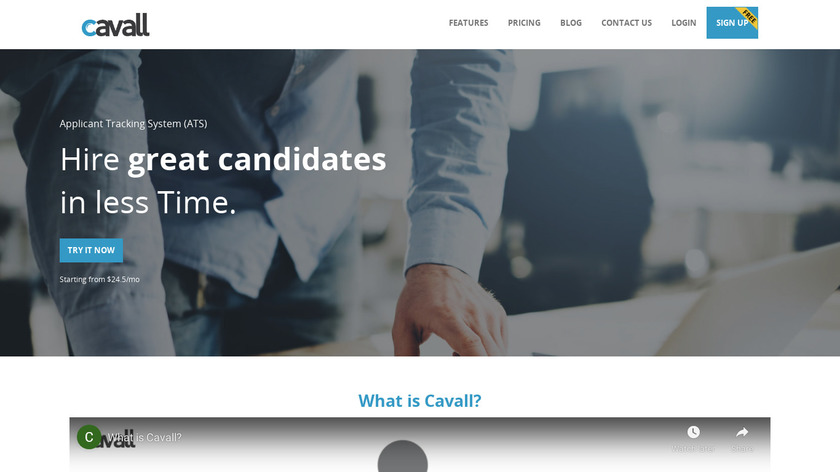 Cavall Landing Page