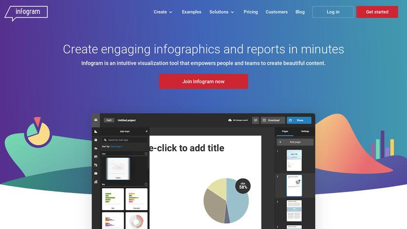 infogr.am Landing Page