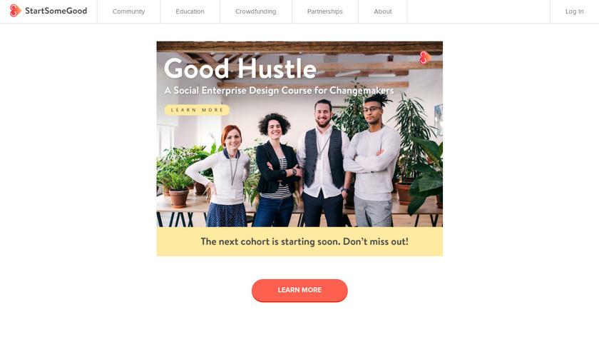 StartSomeGood Landing Page