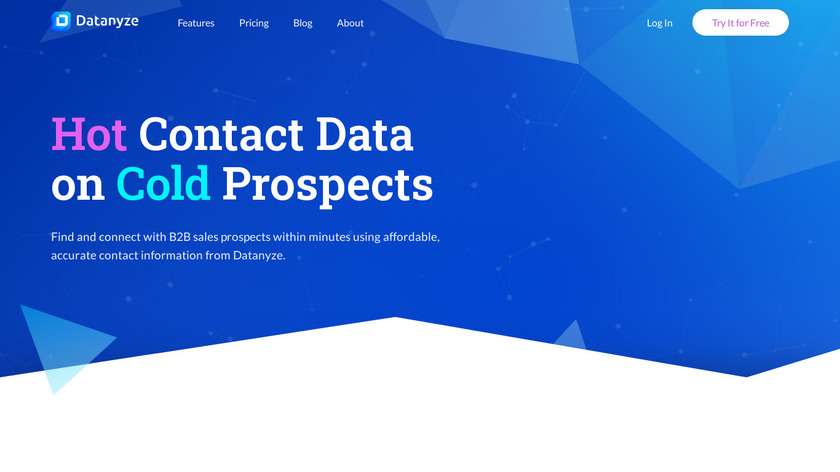 Datanyze Landing Page