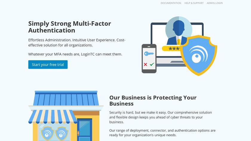 LoginTC Landing Page