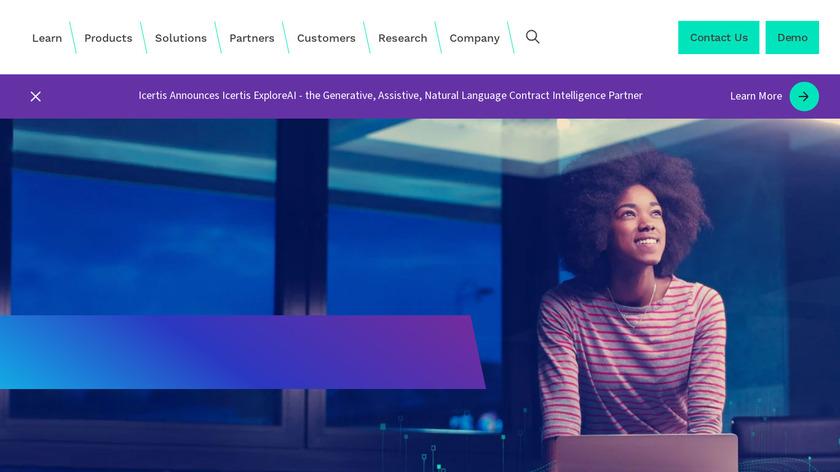 Icertis Landing Page