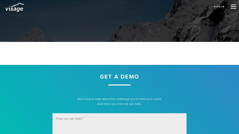 Visage Landing Page