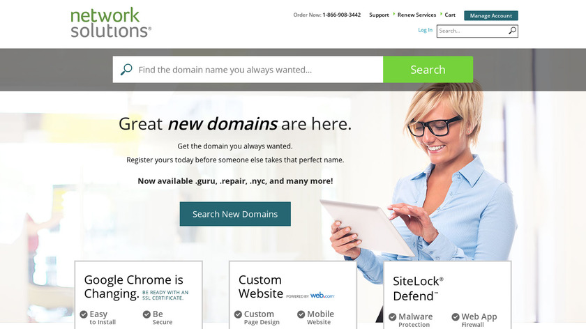 NetworkSolutions Landing Page