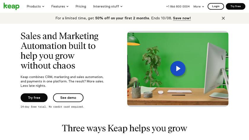 keap.com Landing Page