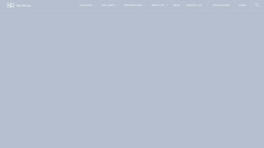 Verishow Landing Page