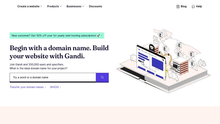 Gandi.net Landing Page