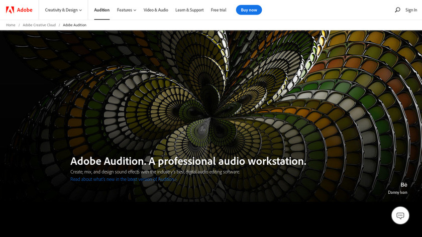 Adobe Audition Landing Page