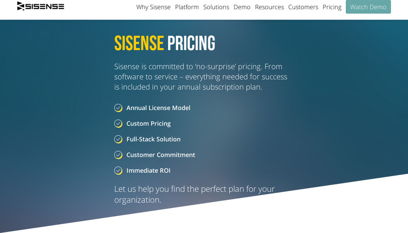 Sisense Pricing
