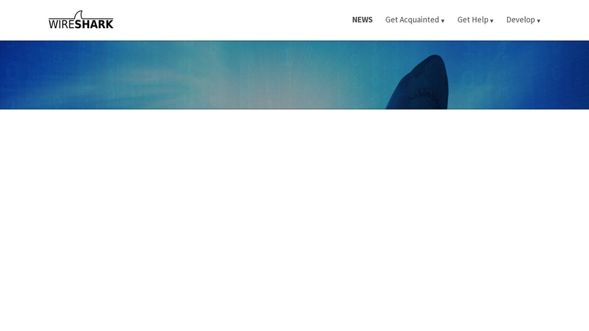 Wireshark Landing Page