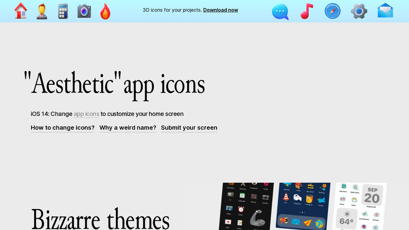 Aesthetic app icons Landing Page