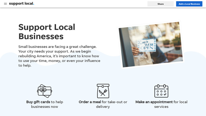 Give Local Landing Page
