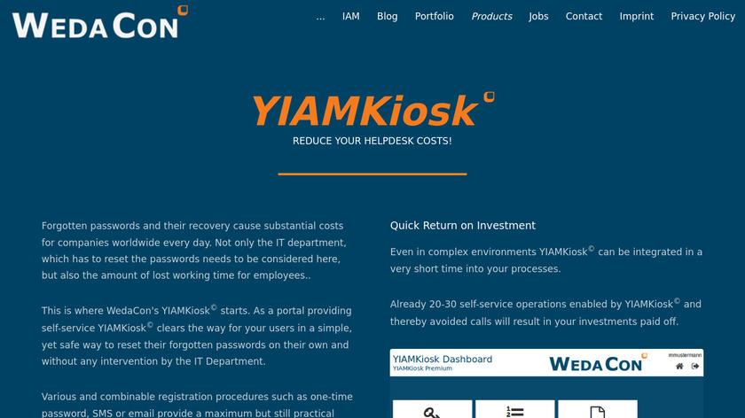 YIAMKiosk Landing Page