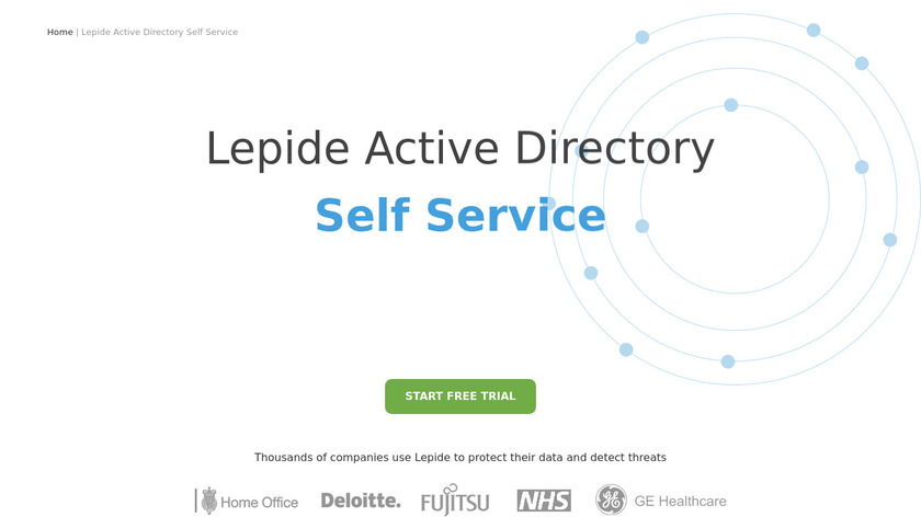 Lepide Active Directory Self Service Landing Page