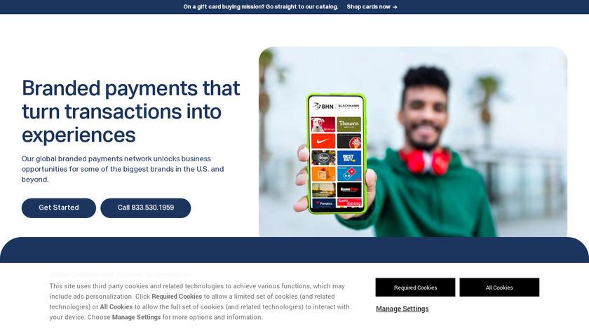 BLACKHAWK NETWORK Landing Page