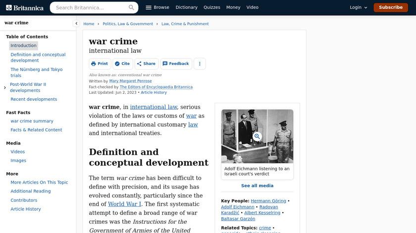 Crime War Landing Page