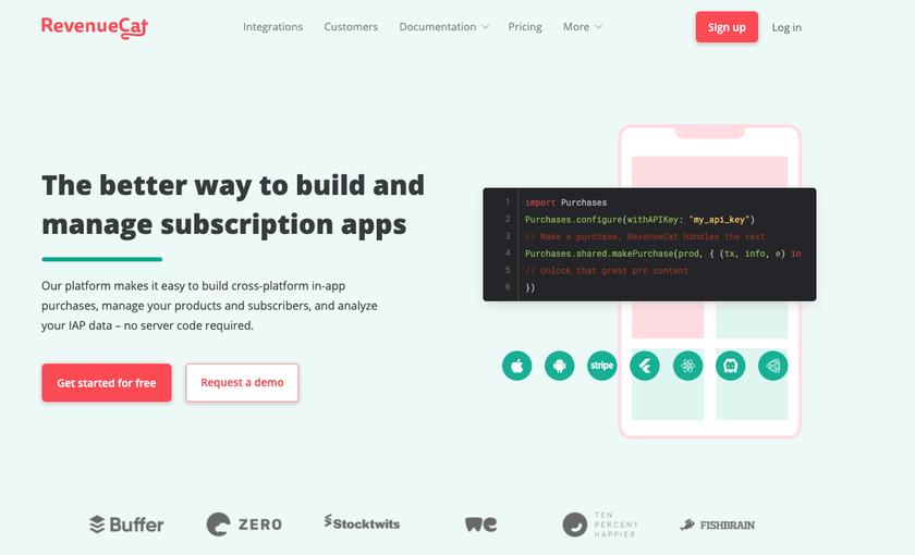 RevenueCat Landing Page