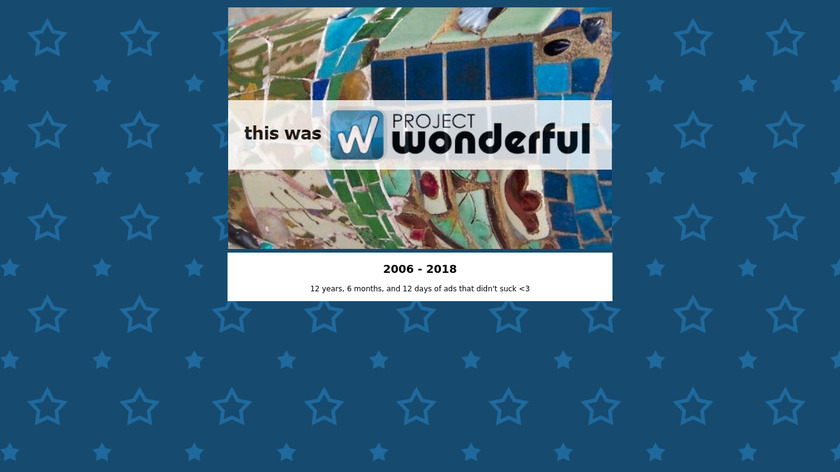 Project Wonderful Landing Page
