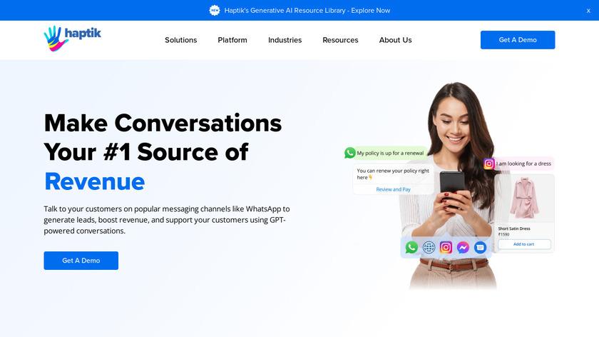 Haptik.ai Landing Page