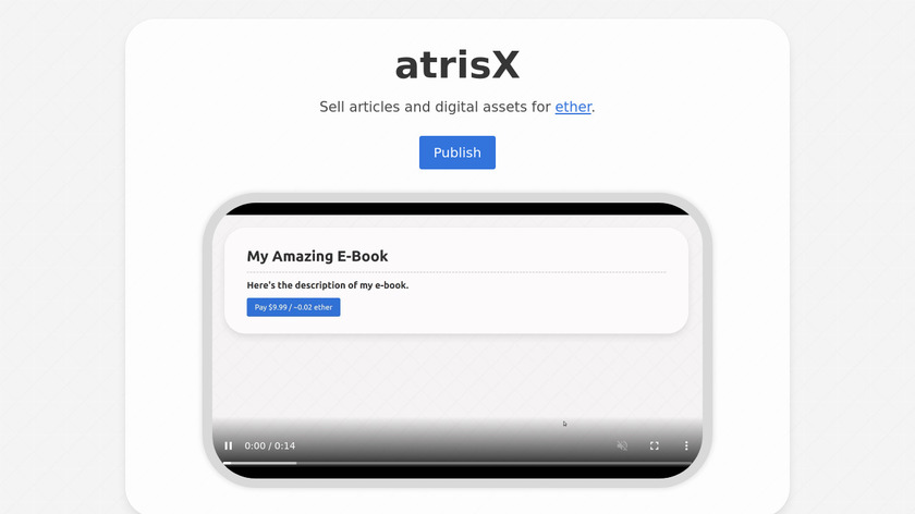 atrisX Landing Page