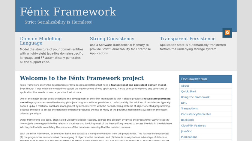 Fénix Framework Landing Page