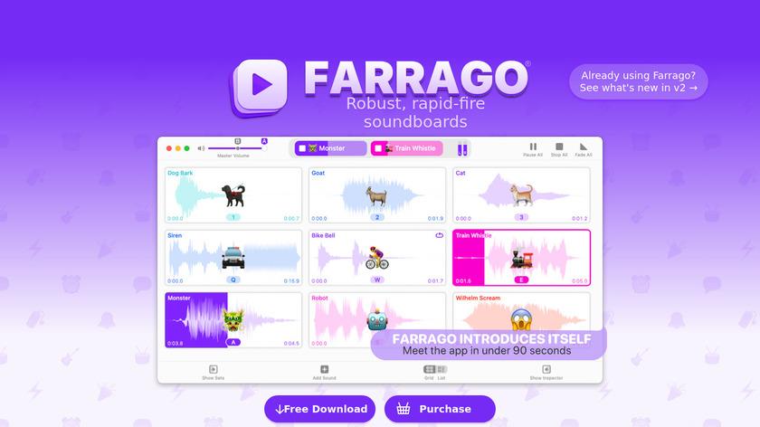 Farrago Landing Page