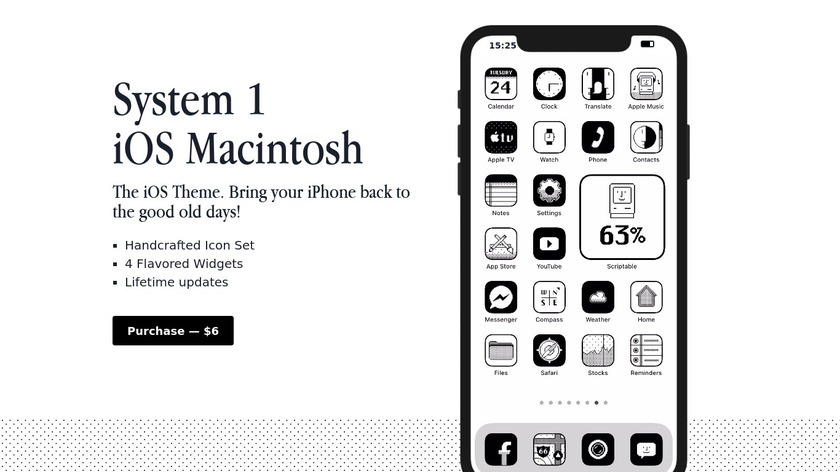 System 1 iOS 14 Icons Landing Page