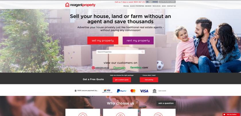 NoAgentProperty Landing Page