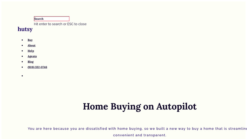 Hutsy Landing Page